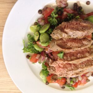 a quick and easy recipe for lamb and lentil salad from mckenzie's foods with lentils