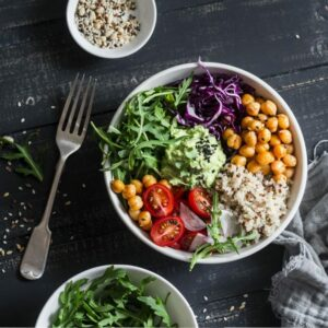 the best grain bowl with quinoa and guacamole